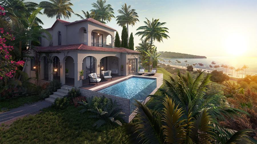 Thiết kế 3 phòng ngủ có hồ bơi biệt thự NovaHills Mũi Né