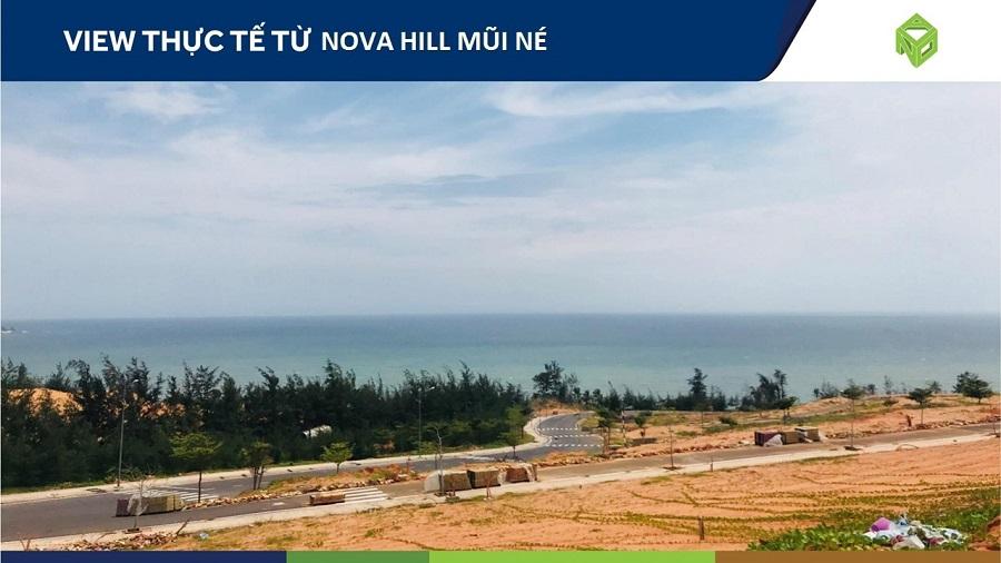 Hướng view nhìn ra biển của dự án NovaHills Mũi Né - Phan Thiết