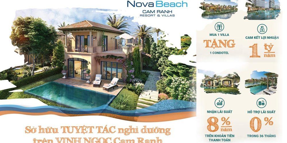 Biệt thự – Căn hộ nghỉ dưỡng Biển NovaBeach Bãi Dài Cam Ranh